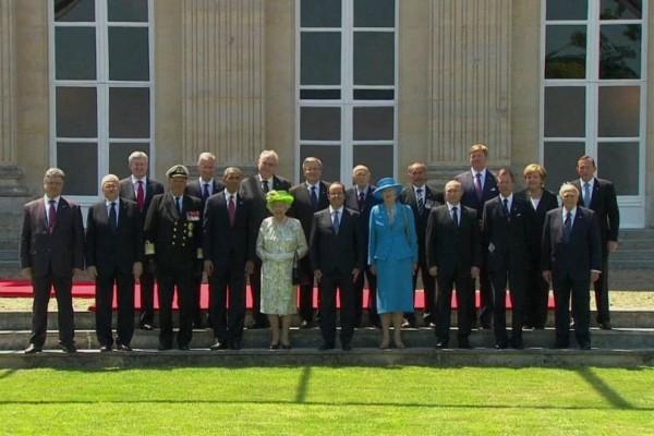 встреча мировых лидеров в нормандии