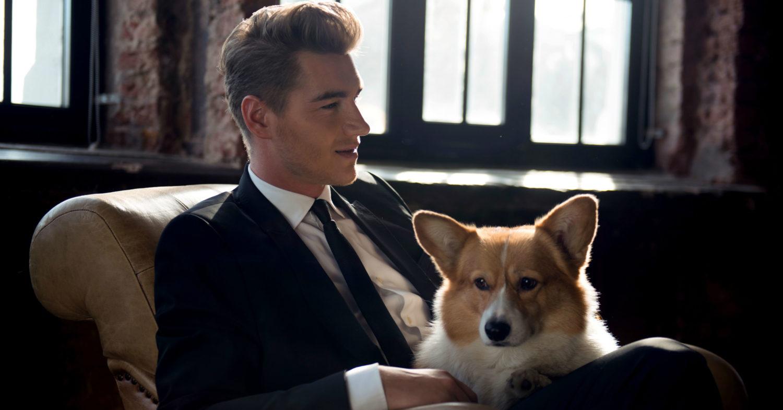 Алексей Воробьёв с собакой