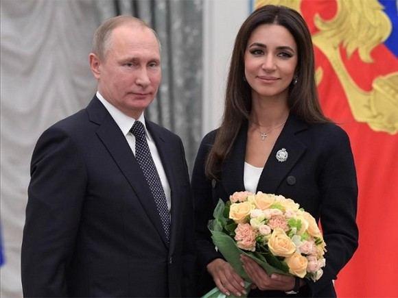 Певица Зара и президент Российской Федерации Владимир Путин
